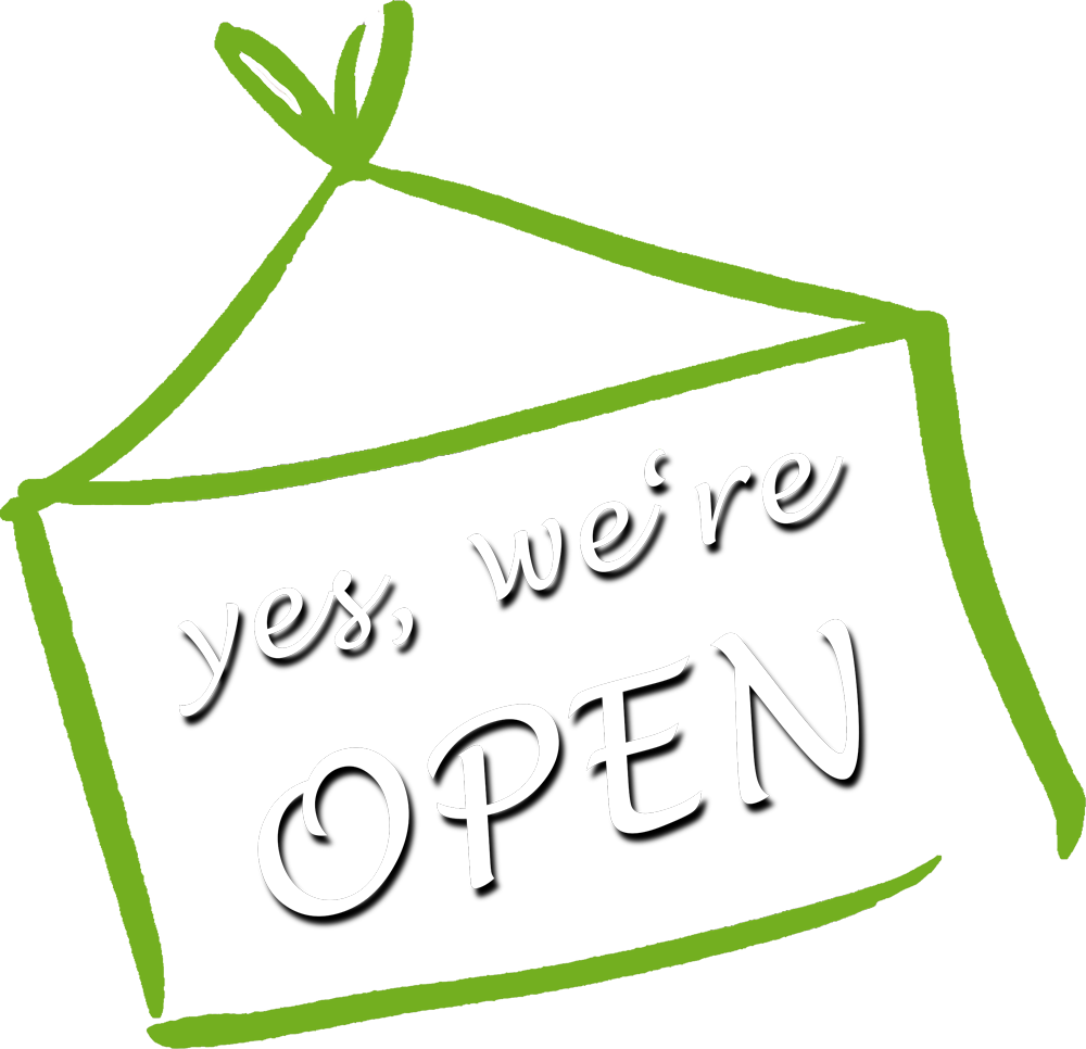 Schild-we-are-open